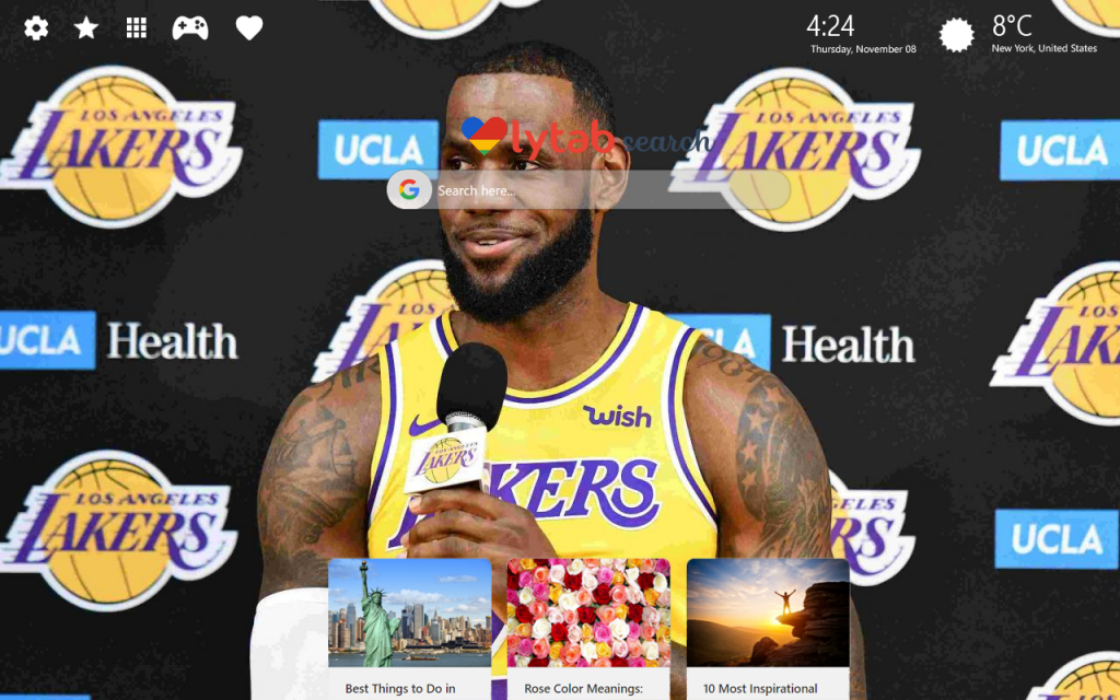 LeBron James Lakers HD Wallpapers New Tab