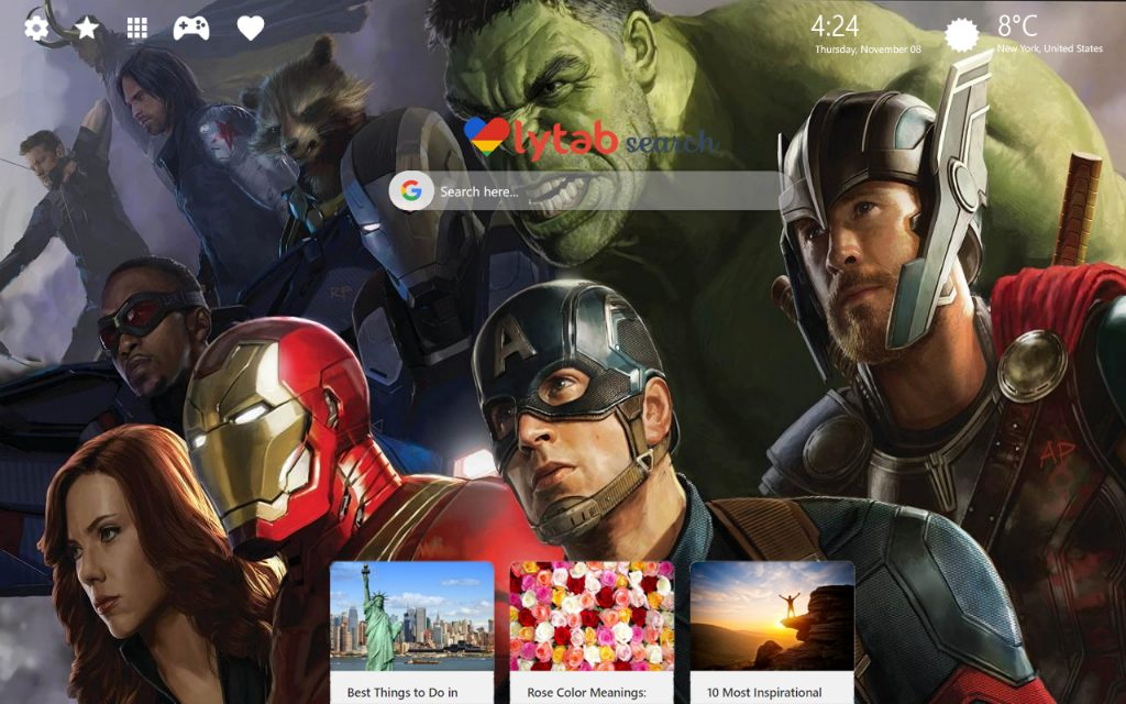 Avengers Infinity War HD Wallpaper & New Tab Theme