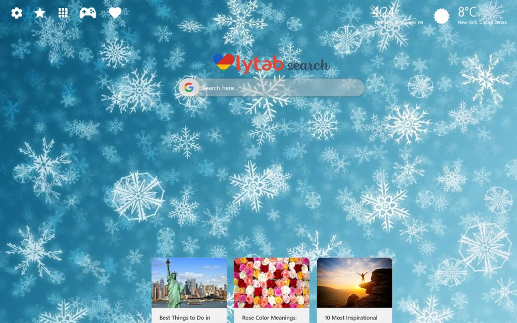 Snowflake HD Wallpaper & New Tab Theme