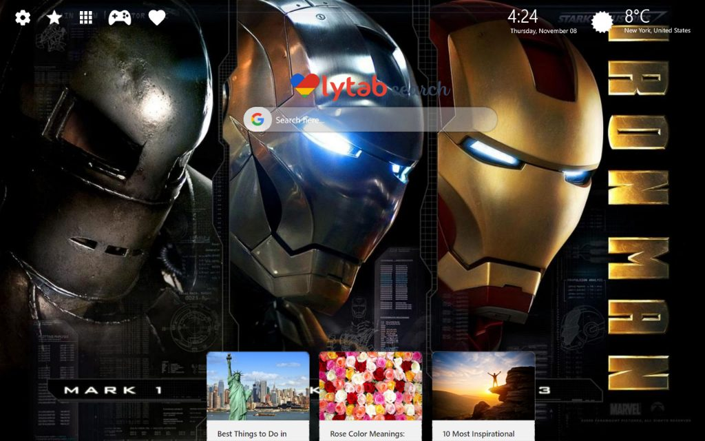 Iron Man HD Wallpaper New Tab Theme