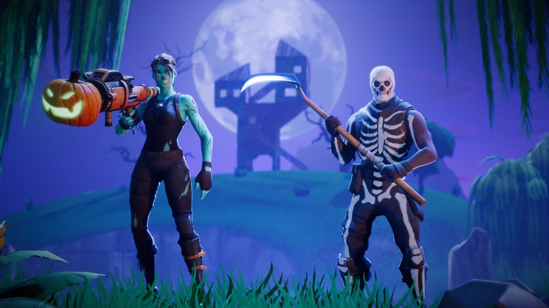 Fortnite Halloween Skins Backgrounds