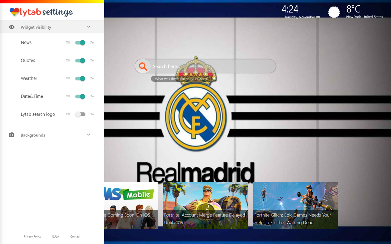 Real Madrid Background