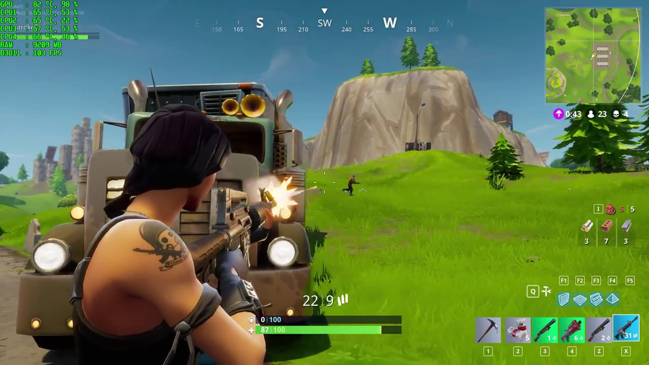 Fortnite shooting play