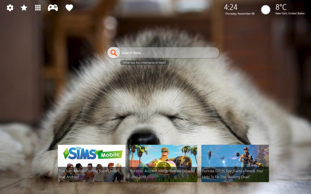 Adorable Husky HD Wallpaper + New Tab Themes