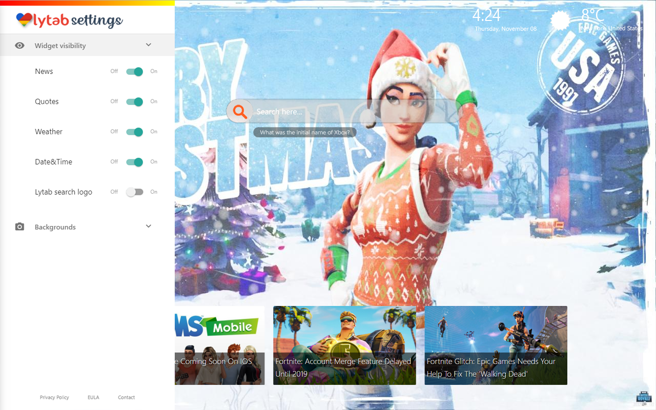 fortnite christmas background