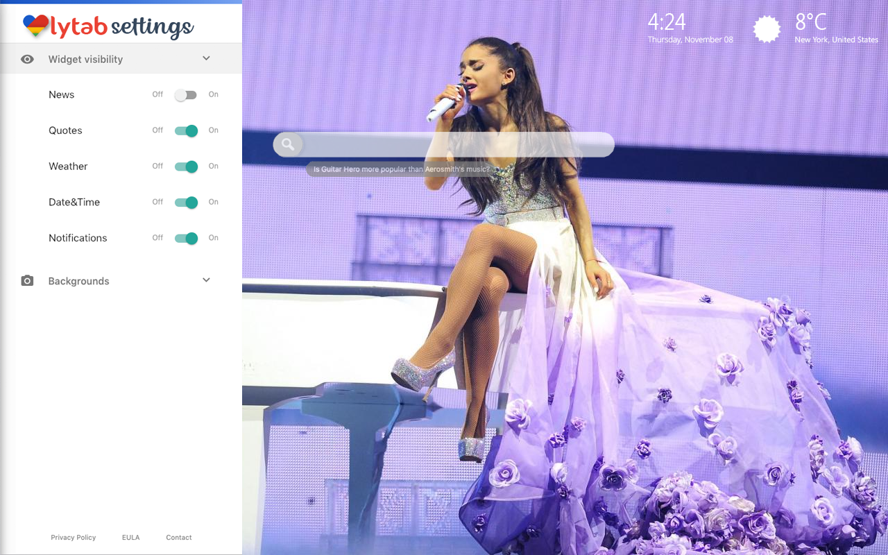 Ariana Grande Concert Backgrounds
