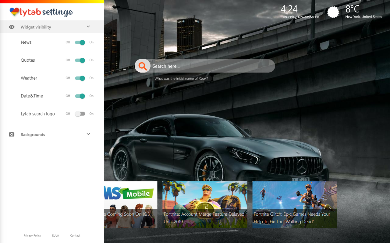 Mercedes New Tab Themes