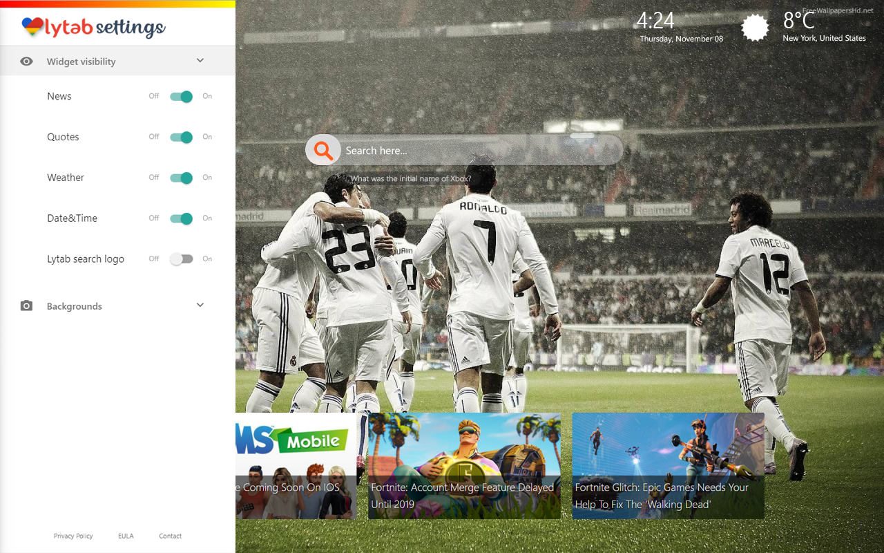 Real Madrid CF New Tab Themes
