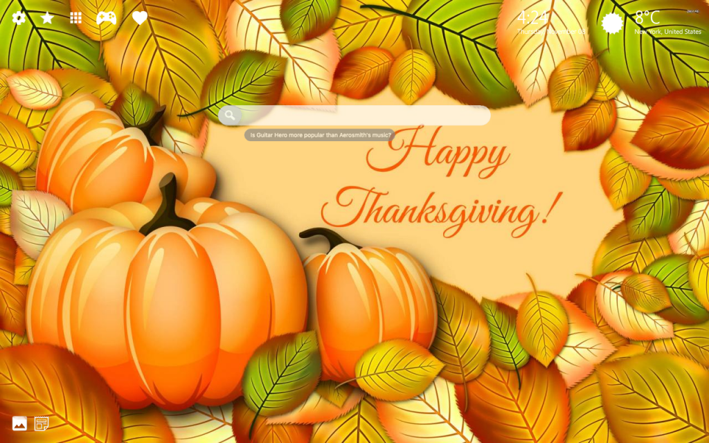 Thanksgiving 4K Background and New Chrome Themes