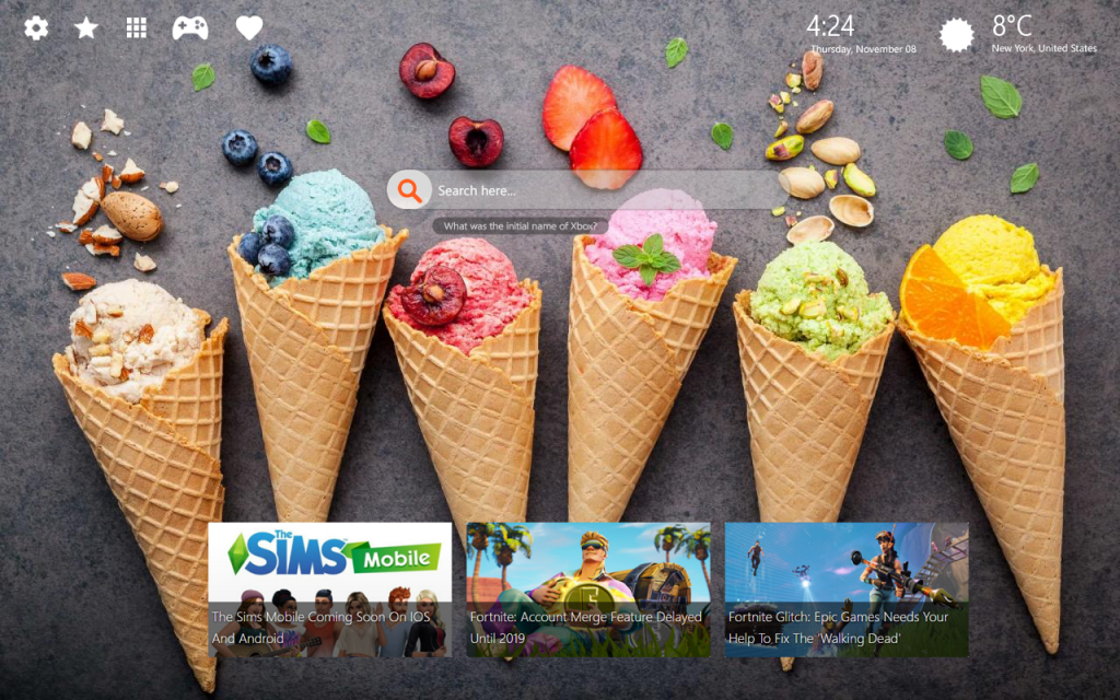 Ice Cream Chrome & New Tab Themes