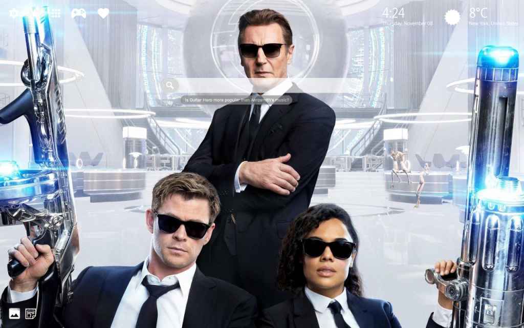 Men In Black 4K Background Chrome Theme – Coming Back AGAIN!