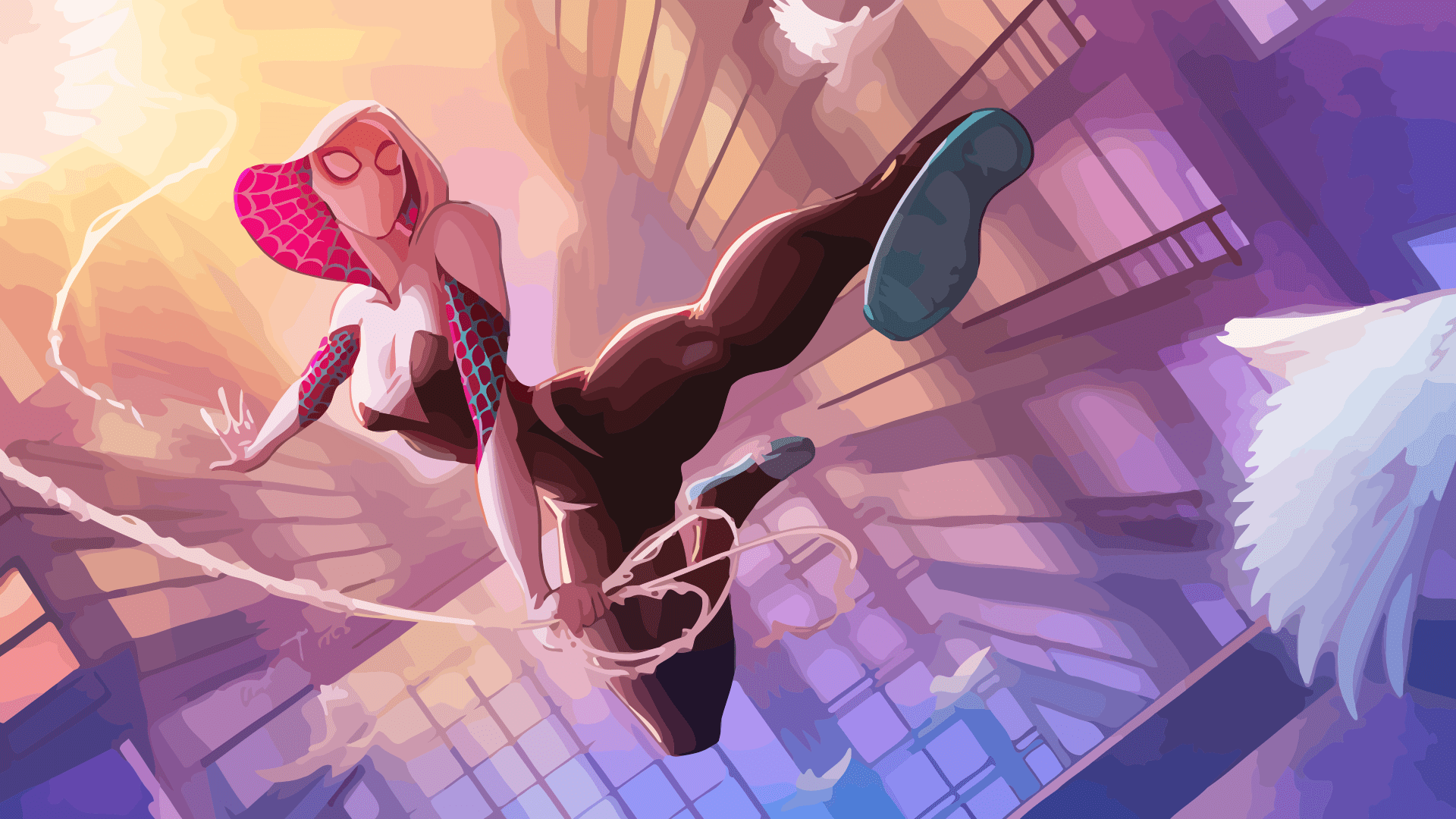 Anime Spider Girl Wallpaper