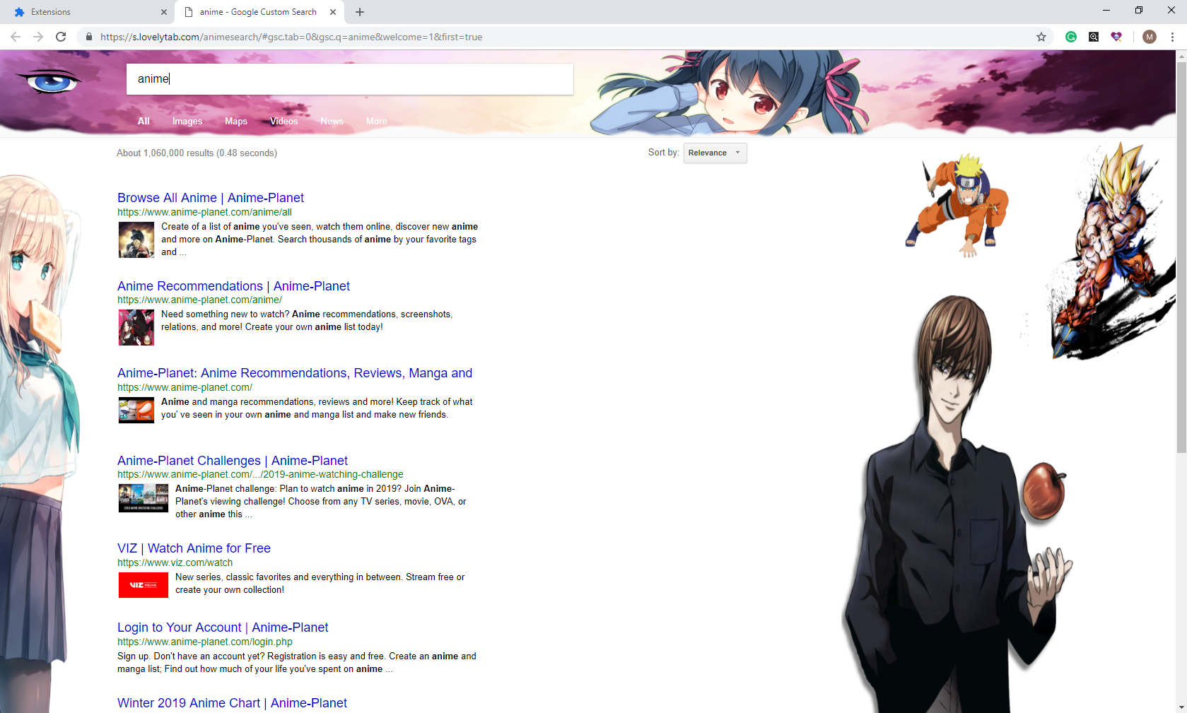 Anime Search Backgrounds