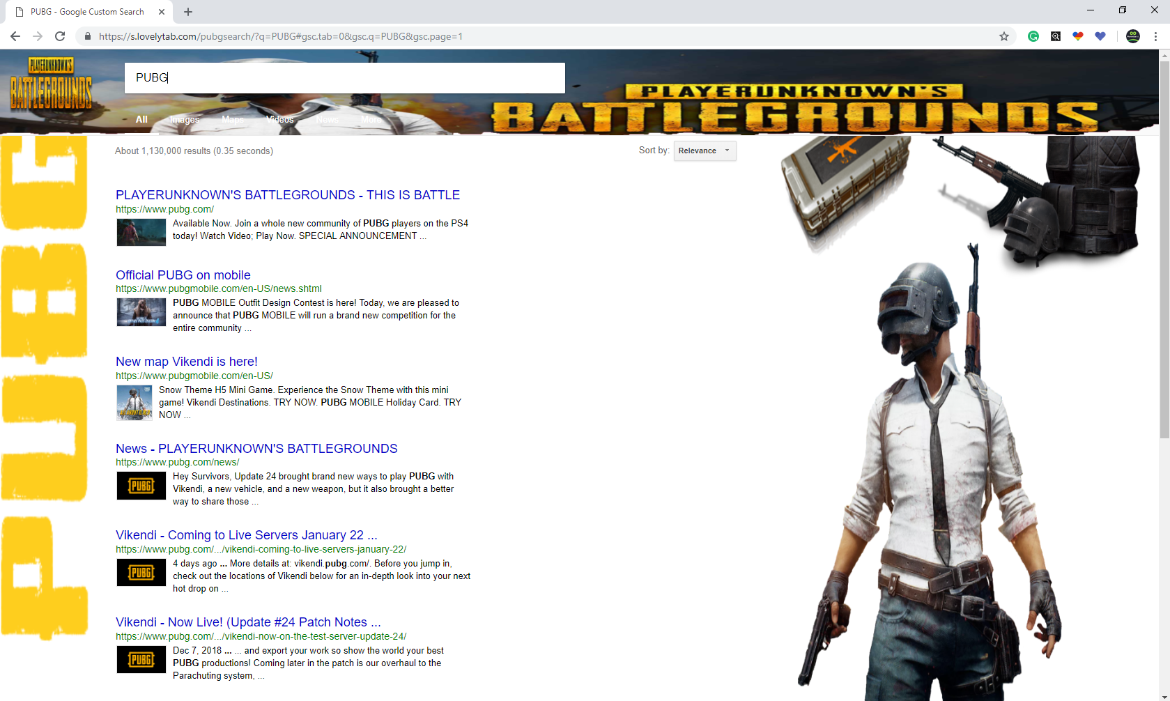 PUBG Search ScreenShot