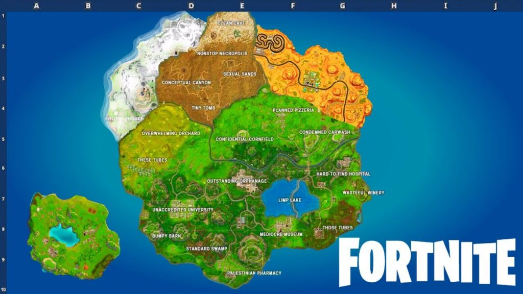 Fortnite Battle Royale Map Season 7