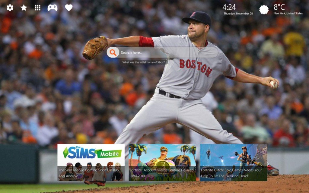 Boston Red Sox HD Wallpaper with New Chrome Themes