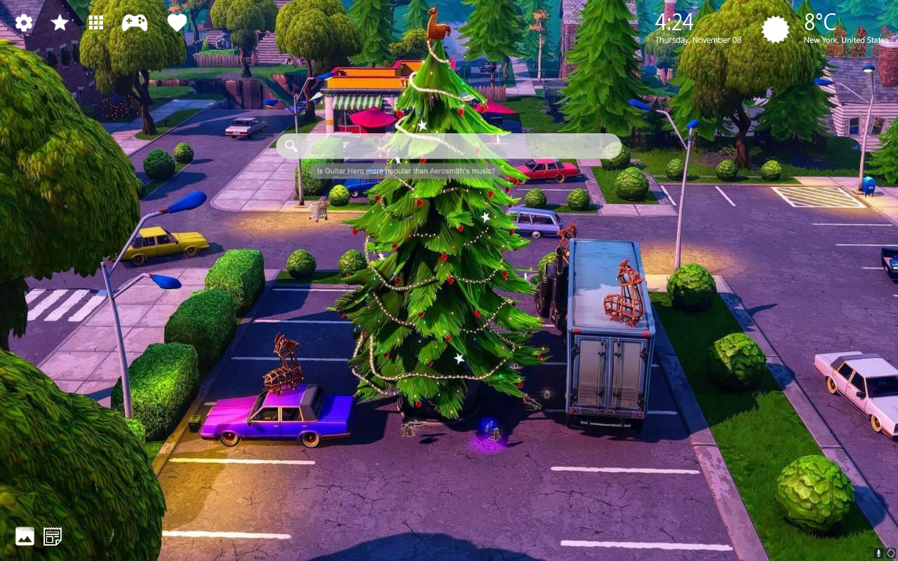 Fortnite Holiday Trees Wallpapers
