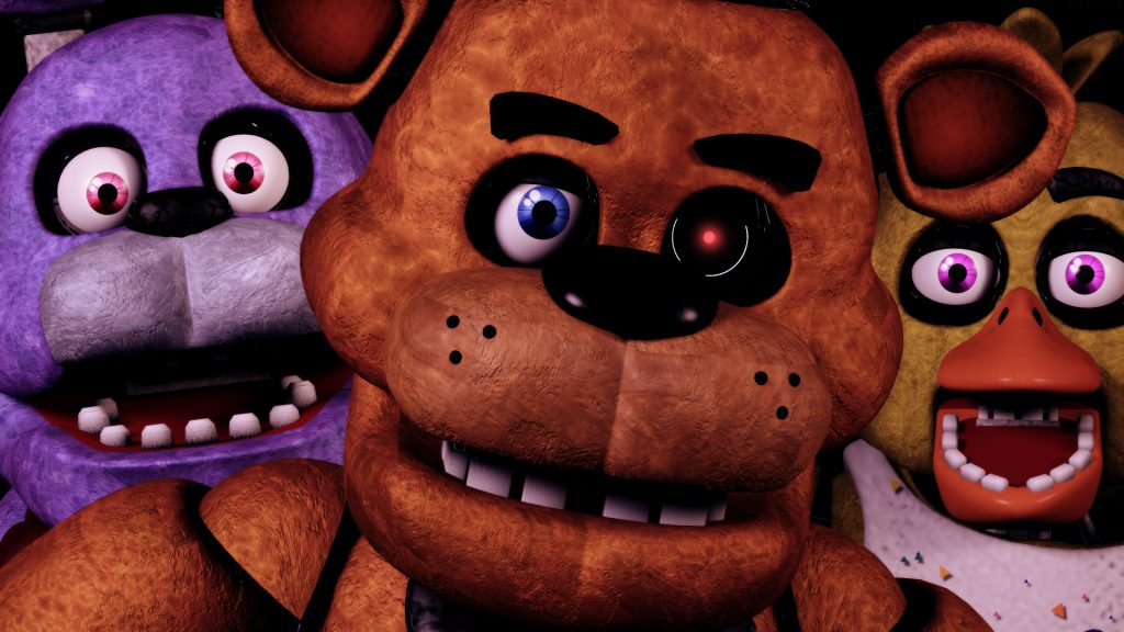 Five Nights at Freddy's Wallpapers + Click Freddy's Nose on the Poster!