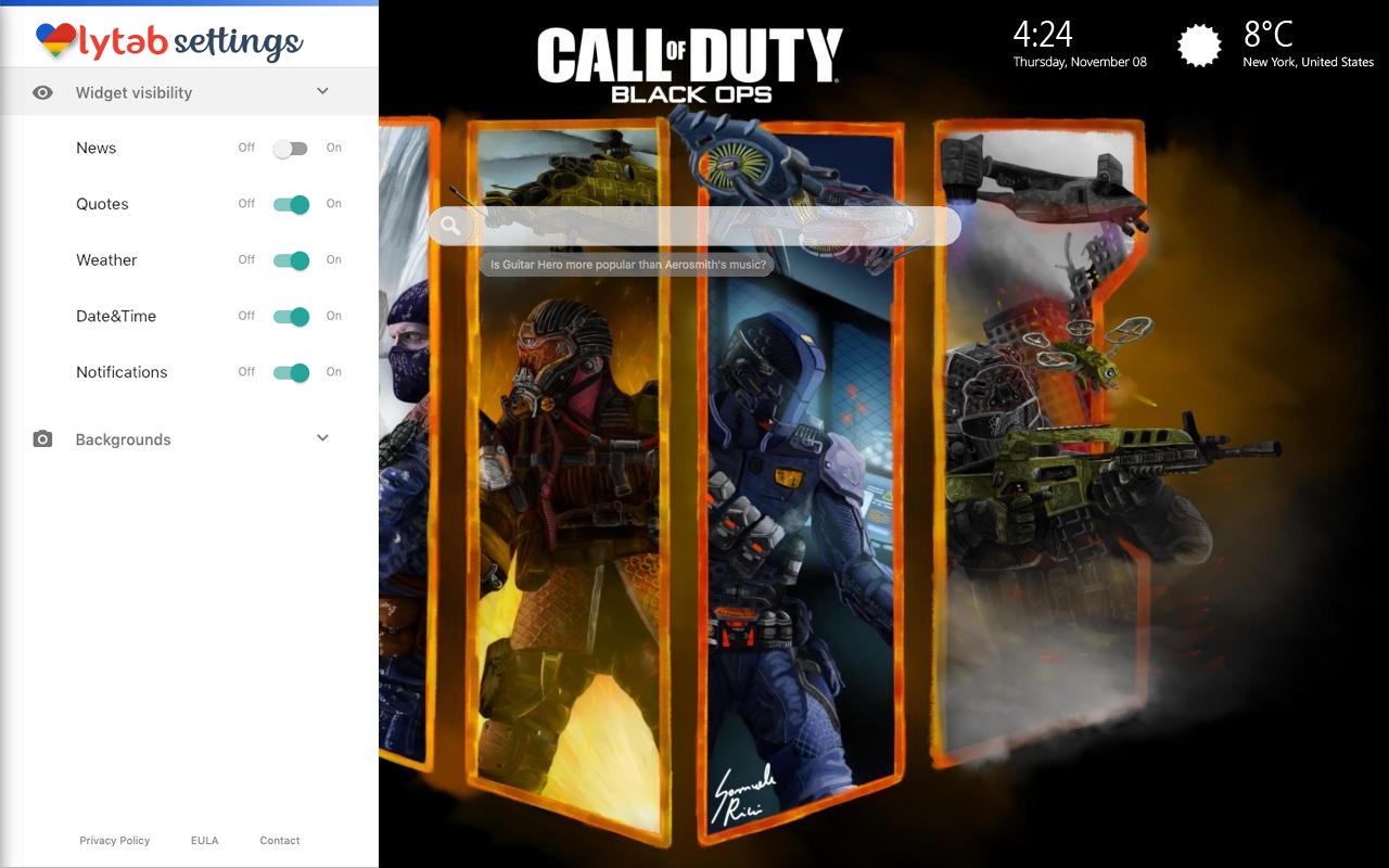 Call Of Duty Black Ops 4 Bookmarks