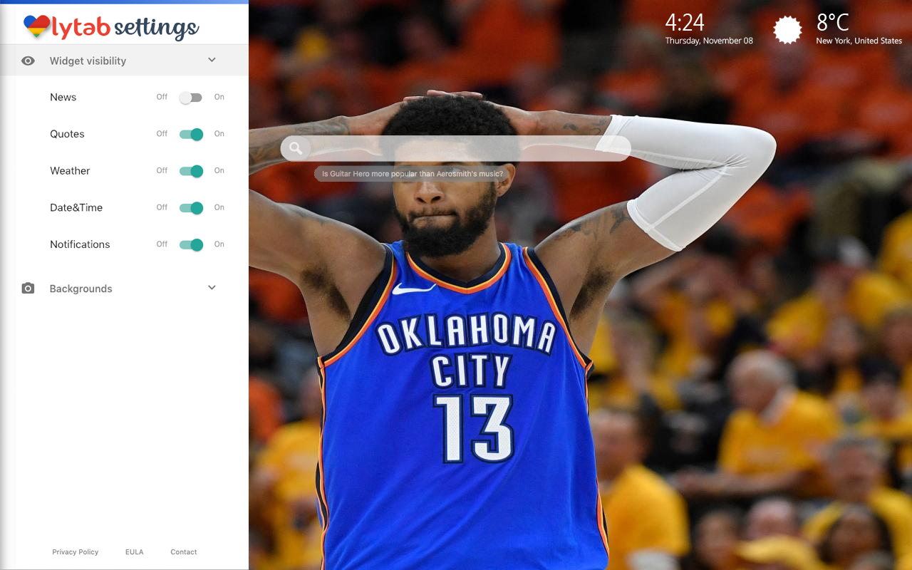 Paul George Bookmarks