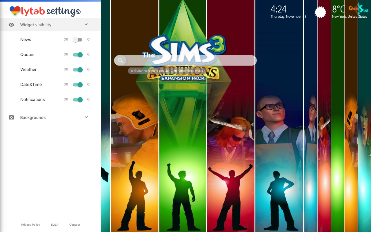 The Sims Mobile Bookmarks