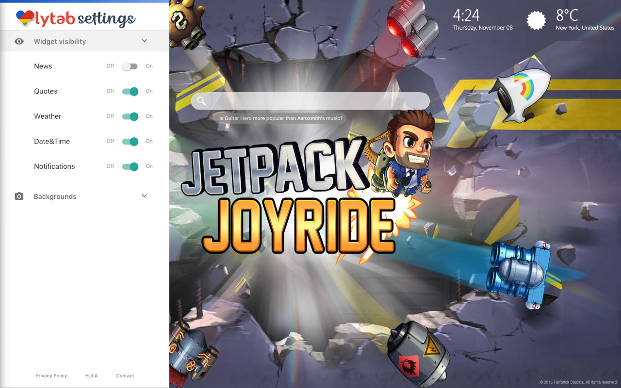 Jetpack Joyride Bookmarks