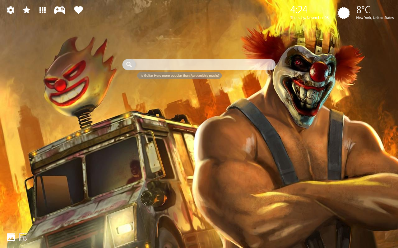Twisted Metal PS4 Home