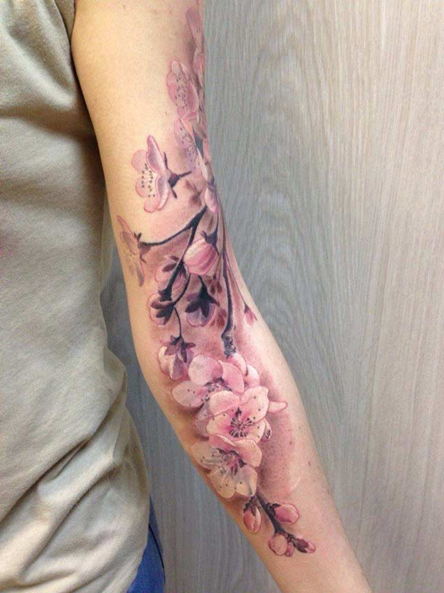 Amazing Cherry Blossom Tatto Wallpapers
