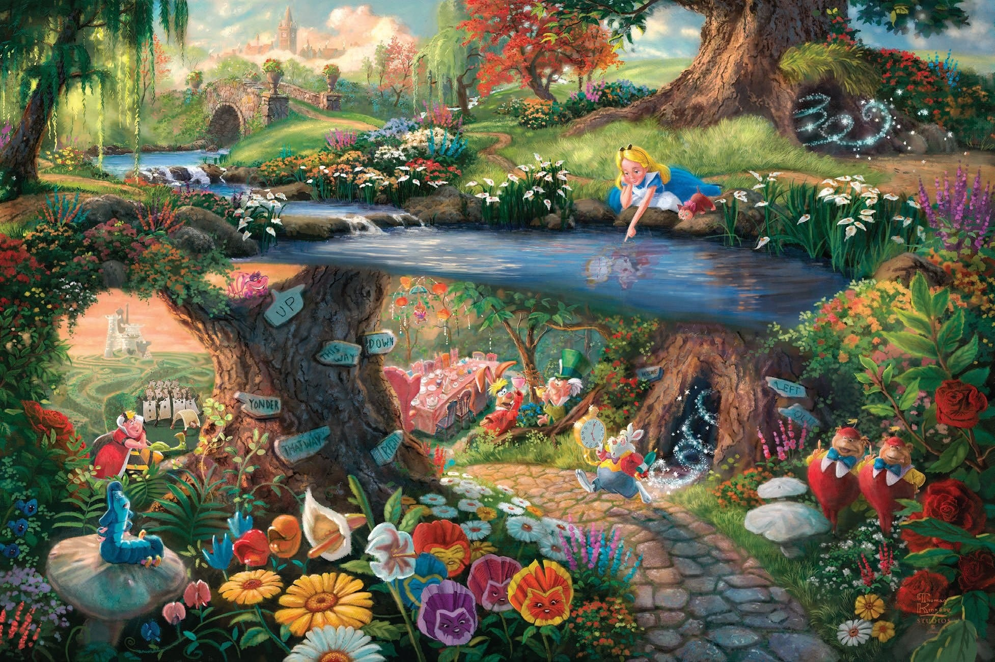 Alice in Wonderland Wallpaper & Alice Theme H Alice in Wonderland Movie Wallpaper & Through The Looking Glass Themes