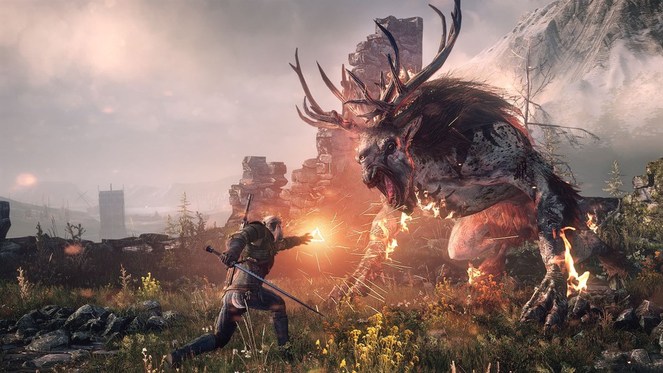 The Witcher gameplay, image source: mashable.com