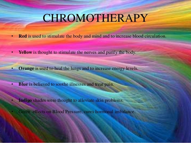 Chromotherapy, image source: drvidyahattangadi.com