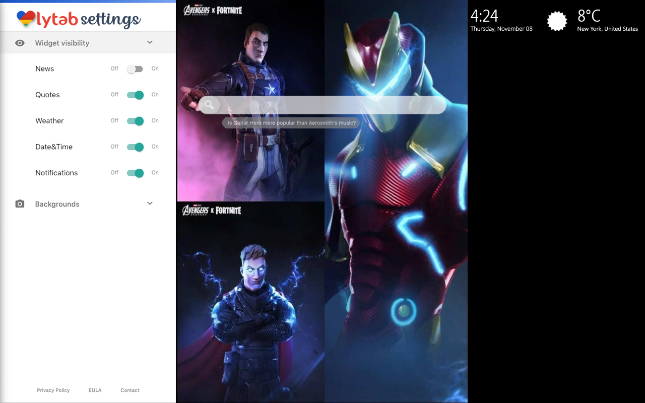 Avengers Endgame Fortnite Settings Wallpaper