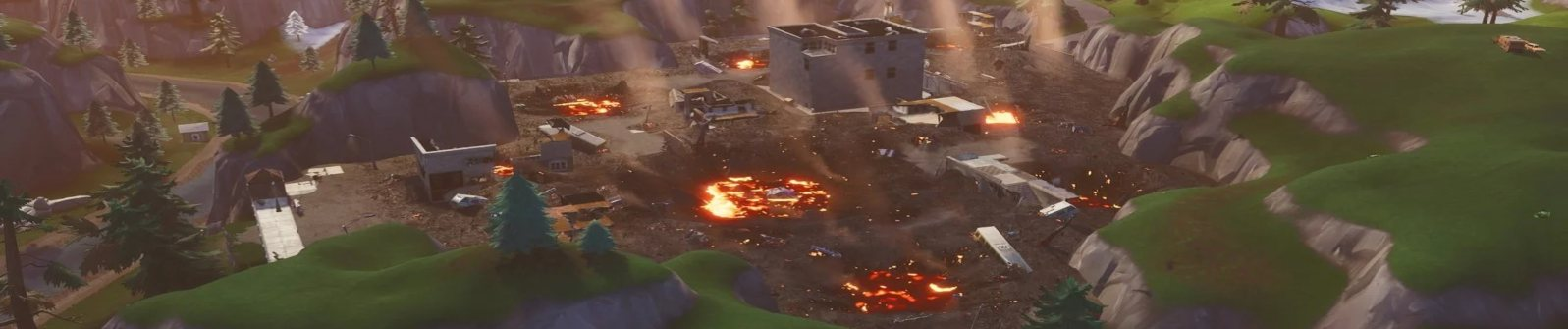 Tilted Towers Destroyed Season 8 4K Background