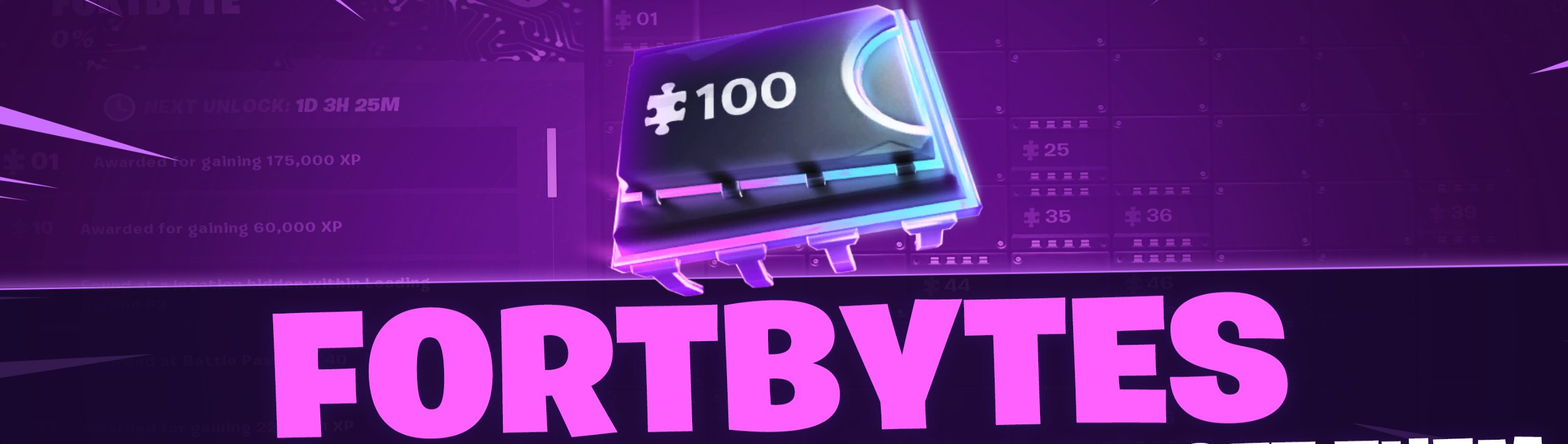 Collect Fortbytes Fortnite Season 9 4K Background