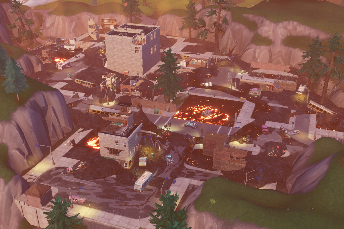 Tilted Towers Destroyed Season 8 HD Wallpaper