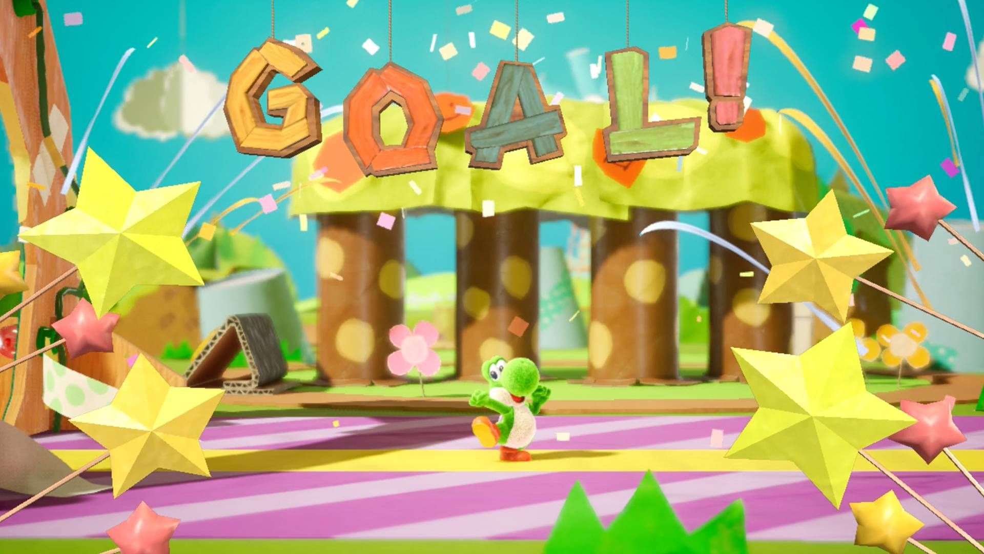 Yoshi's Crafted World Backgrounds