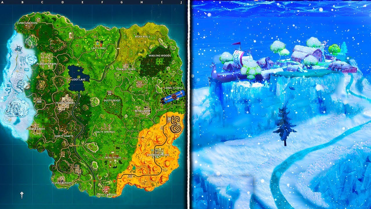 Fortnite Map Season HD Wallpaper