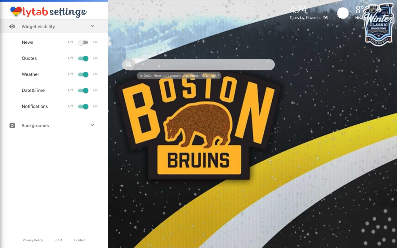 Boston Bruins Settings Wallpaper
