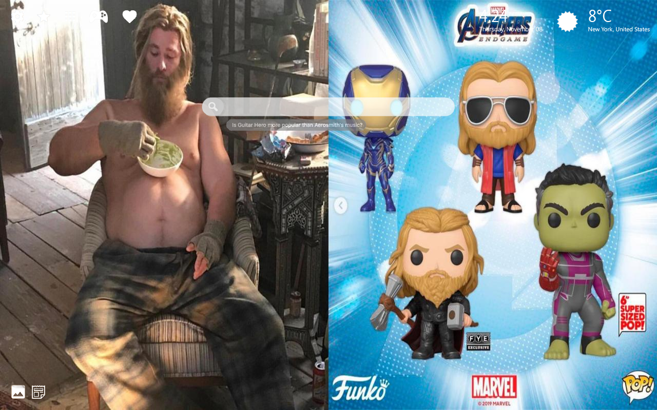 Avengers Endgame Thor Lebowski Home Wallpaper