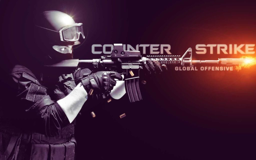 Counter Strike: Global Offensive Gameplay + Cool 4K Background