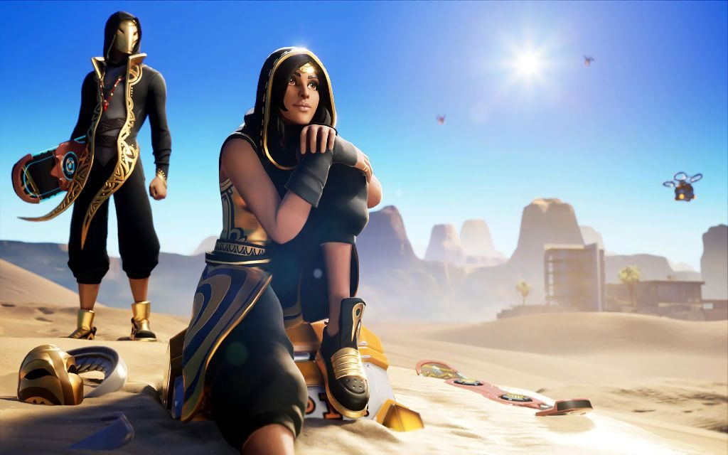 Fortnite Sandstorm Skin Information + Cool 4K Background