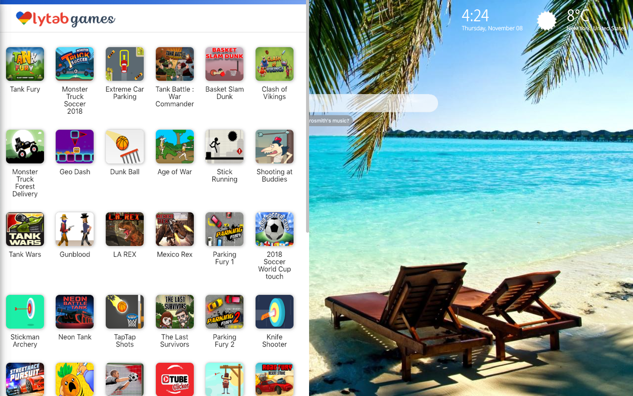 Summer Vacation Holiday Games Wallpaper