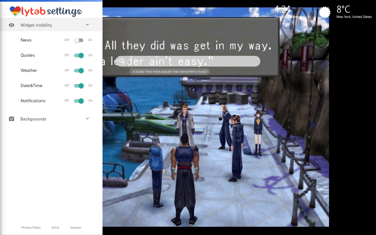 Final Fantasy VIII Settings Wallpaper