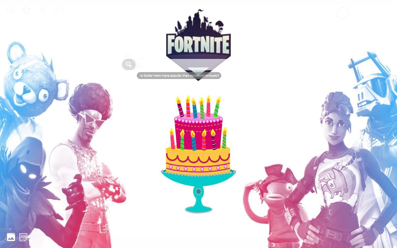 Fortnite 2nd Birthday Pics