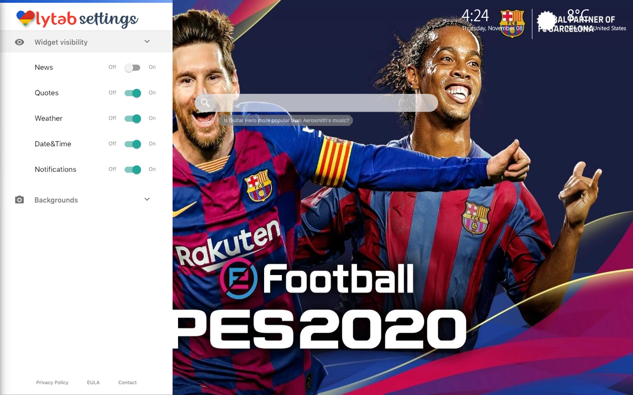 PES 2020 Settings Wallpaper